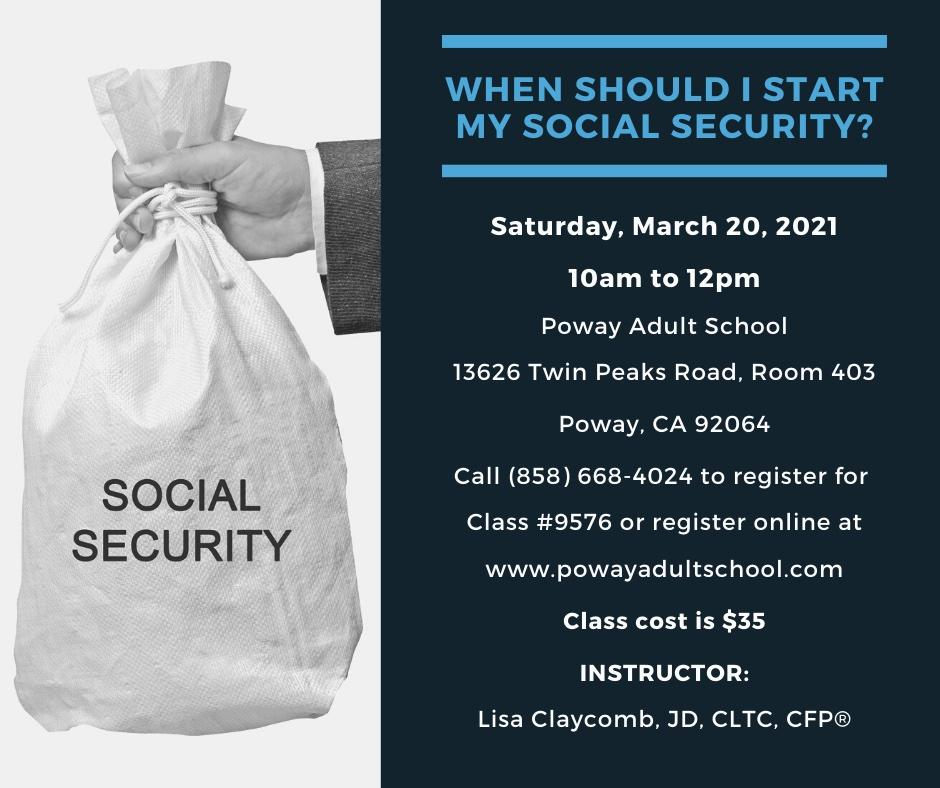 When Should I Start My Social Security? Thumbnail