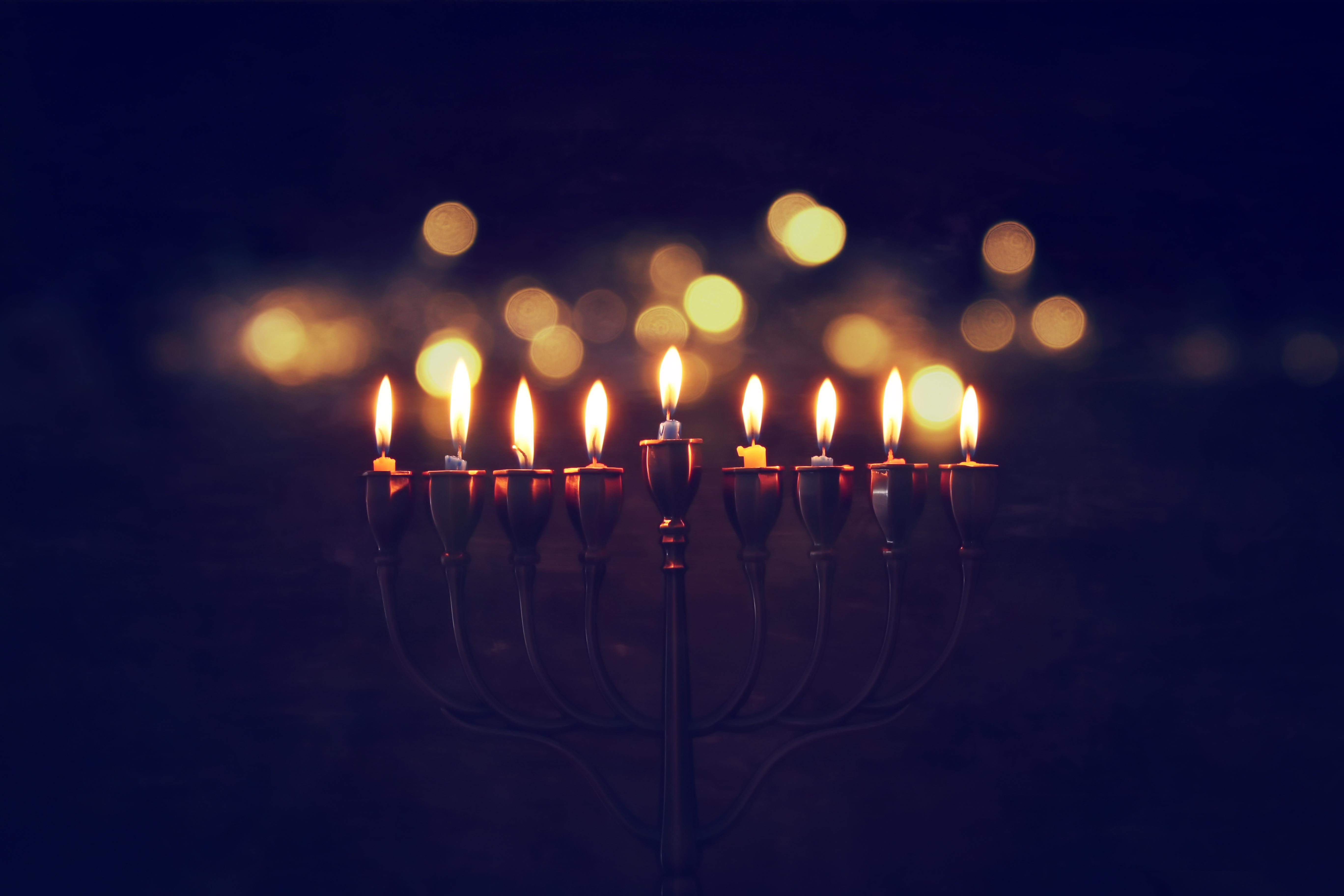 Eight Hanukkah Candles.  Eight Hanukkah Challenges. Thumbnail