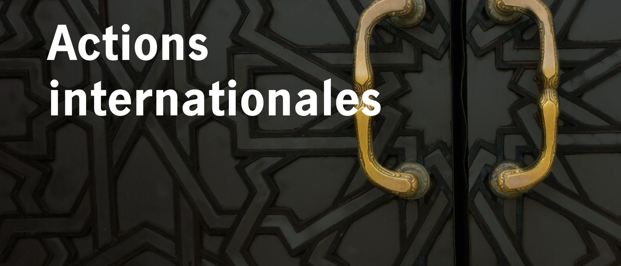 Actions internationales Thumbnail