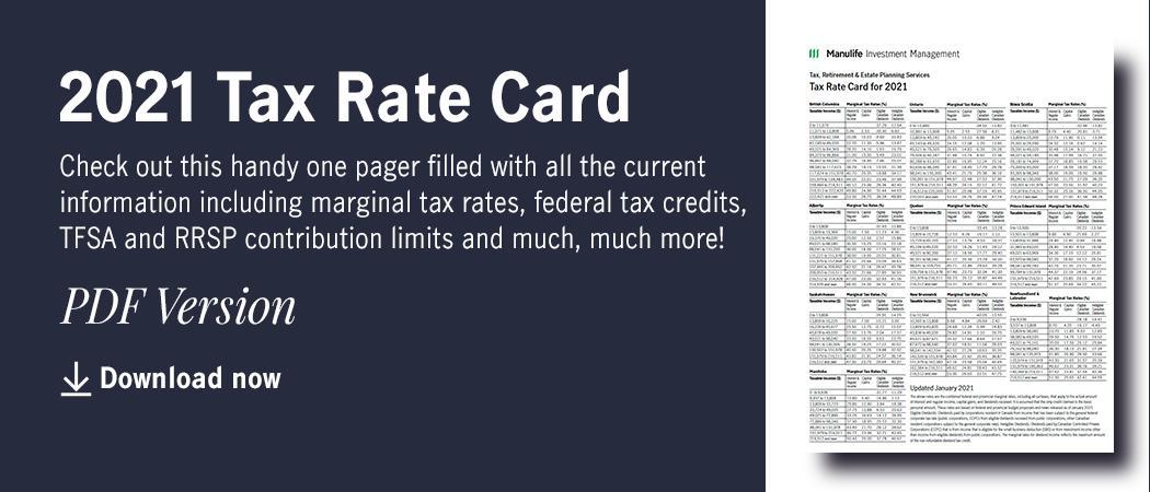 2021 Tax Rate Card Thumbnail