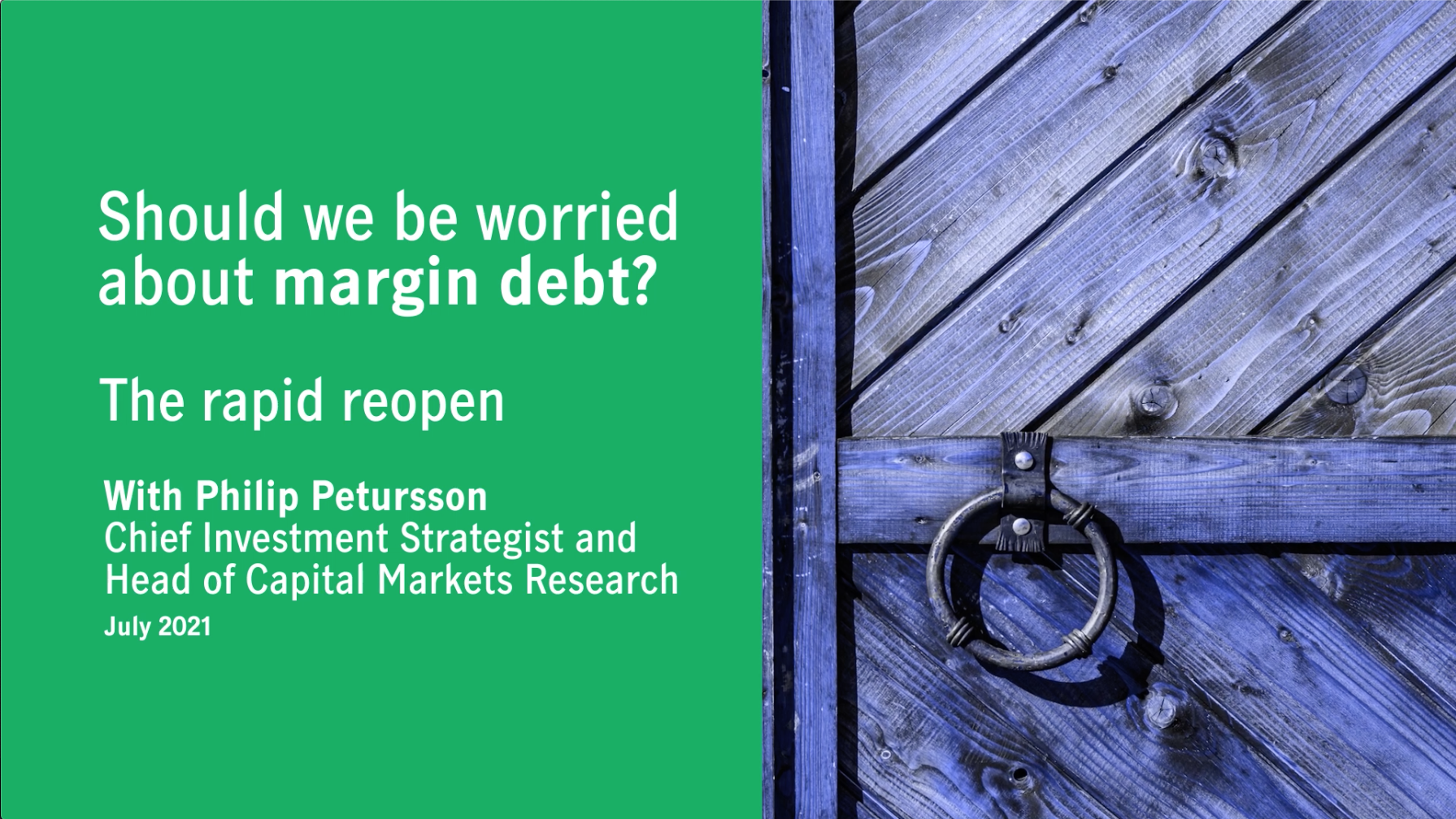 Should we be worried about margin debt? Thumbnail