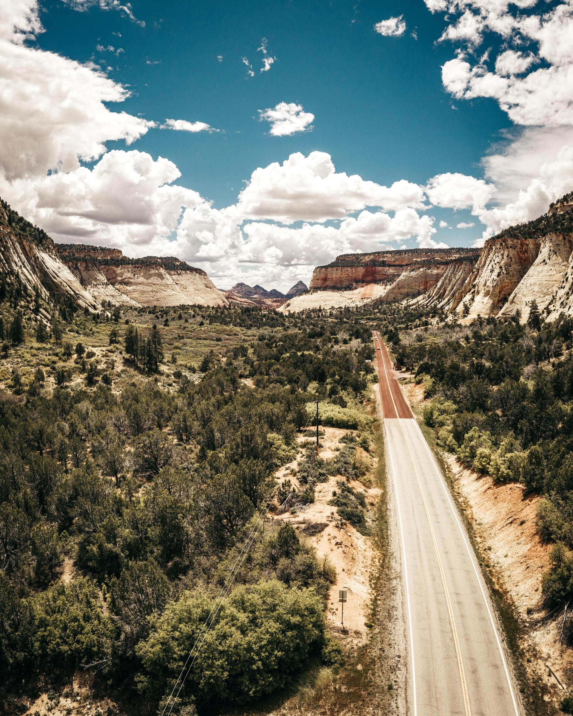 arial photo of mountains in Utah