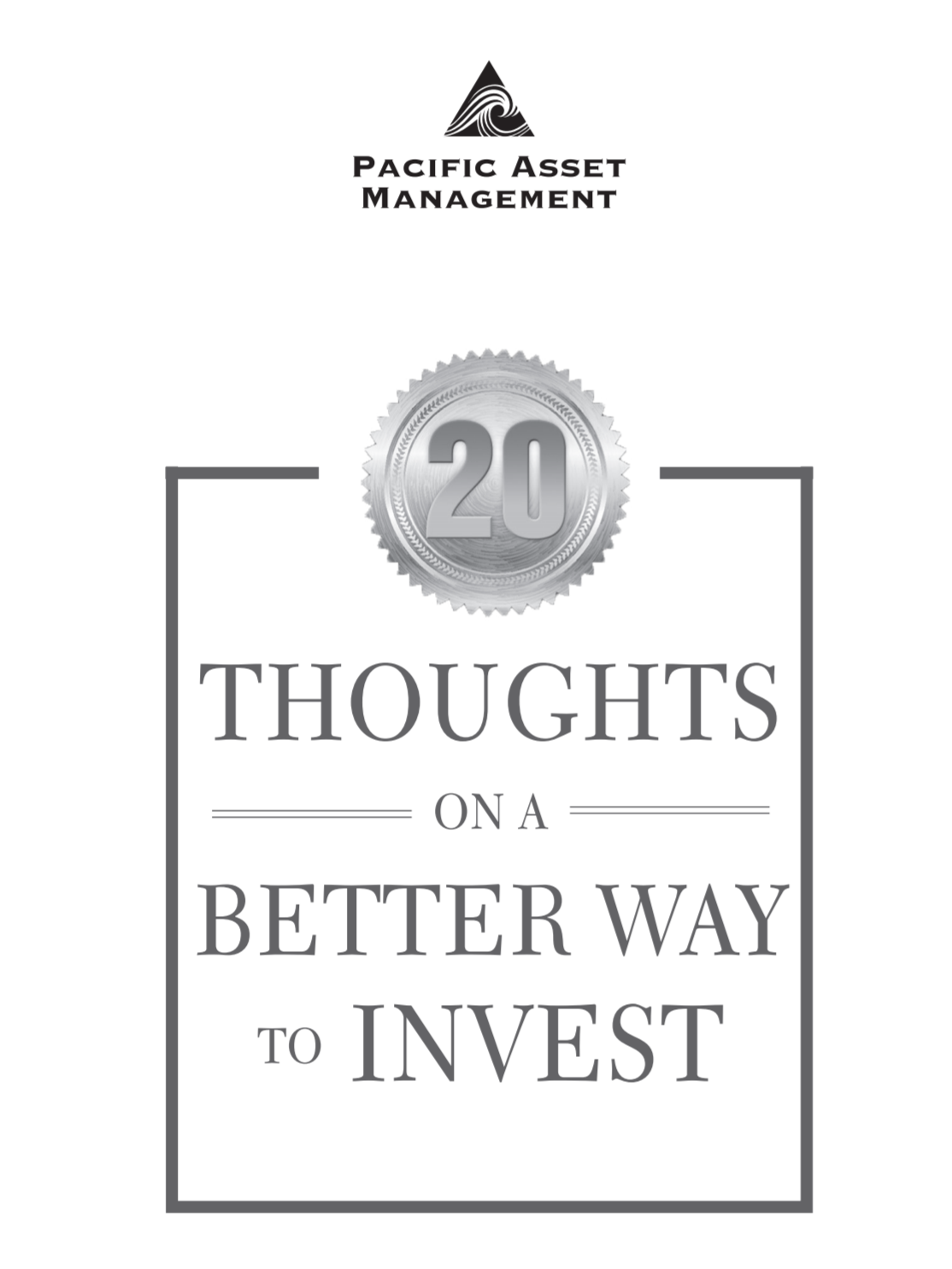 20 Thoughts on a Better Way to Invest Cover