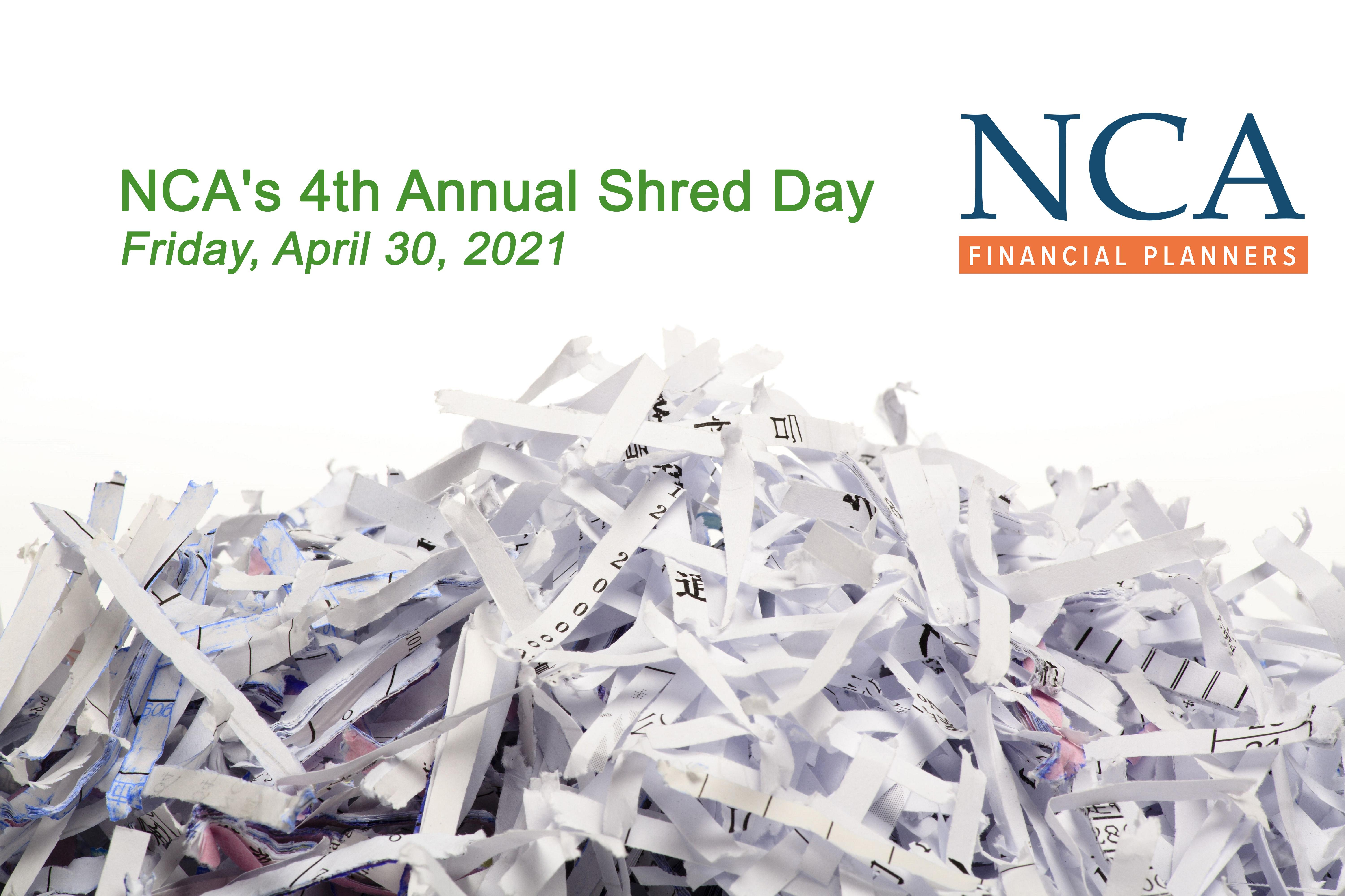 NCA's 4th Annual Shred Day Event Thumbnail