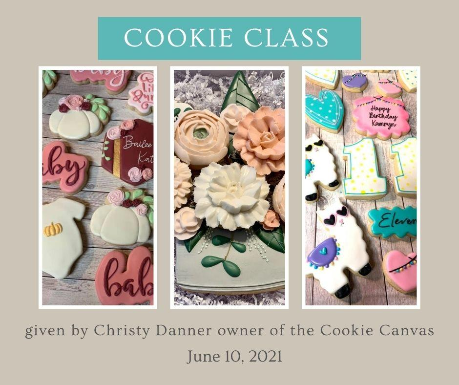 Cookie Decorating with Christy Danner.   This class is offered in person or ONLINE Thumbnail