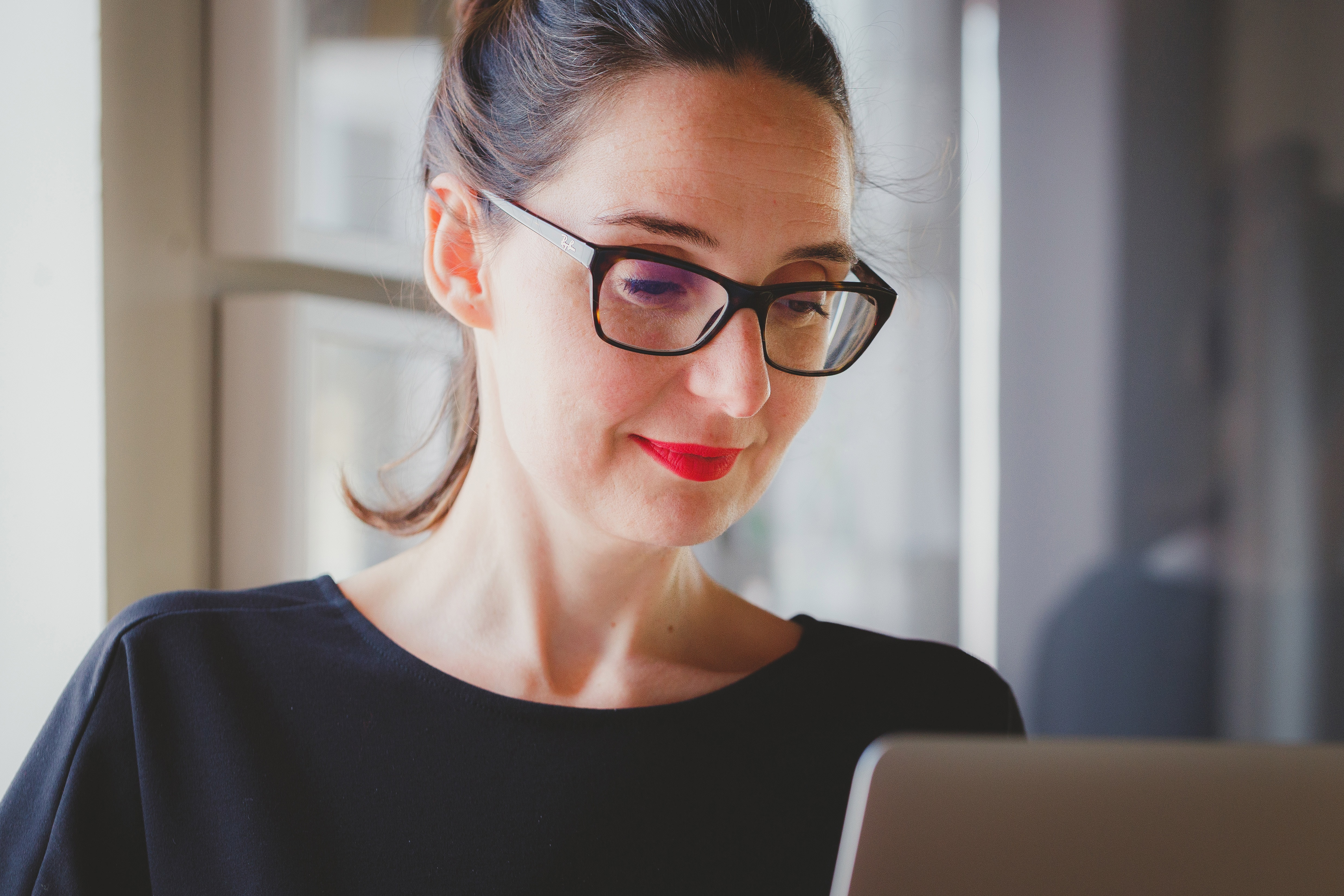 Women on computer