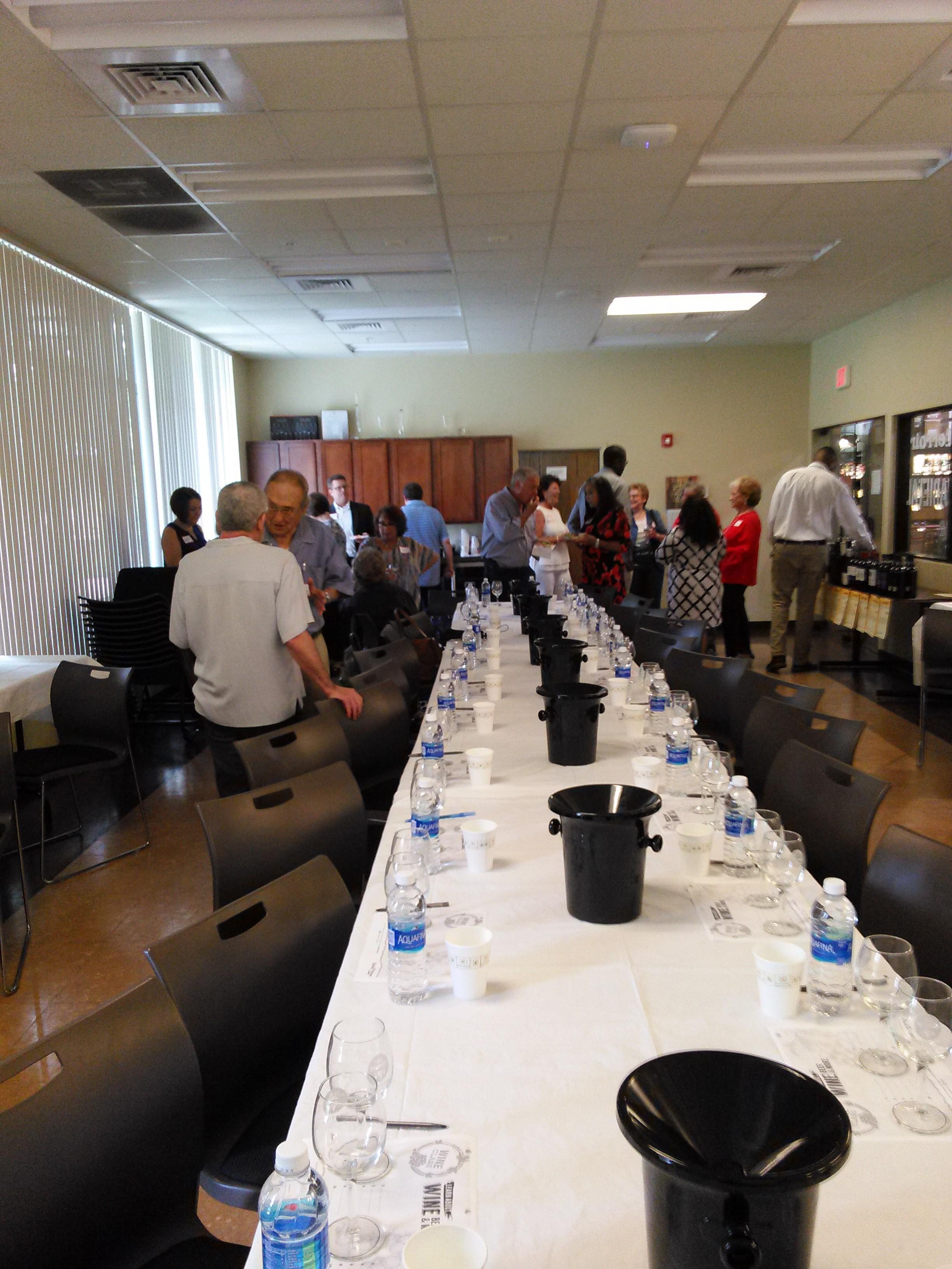 attendees of Wine tasting night