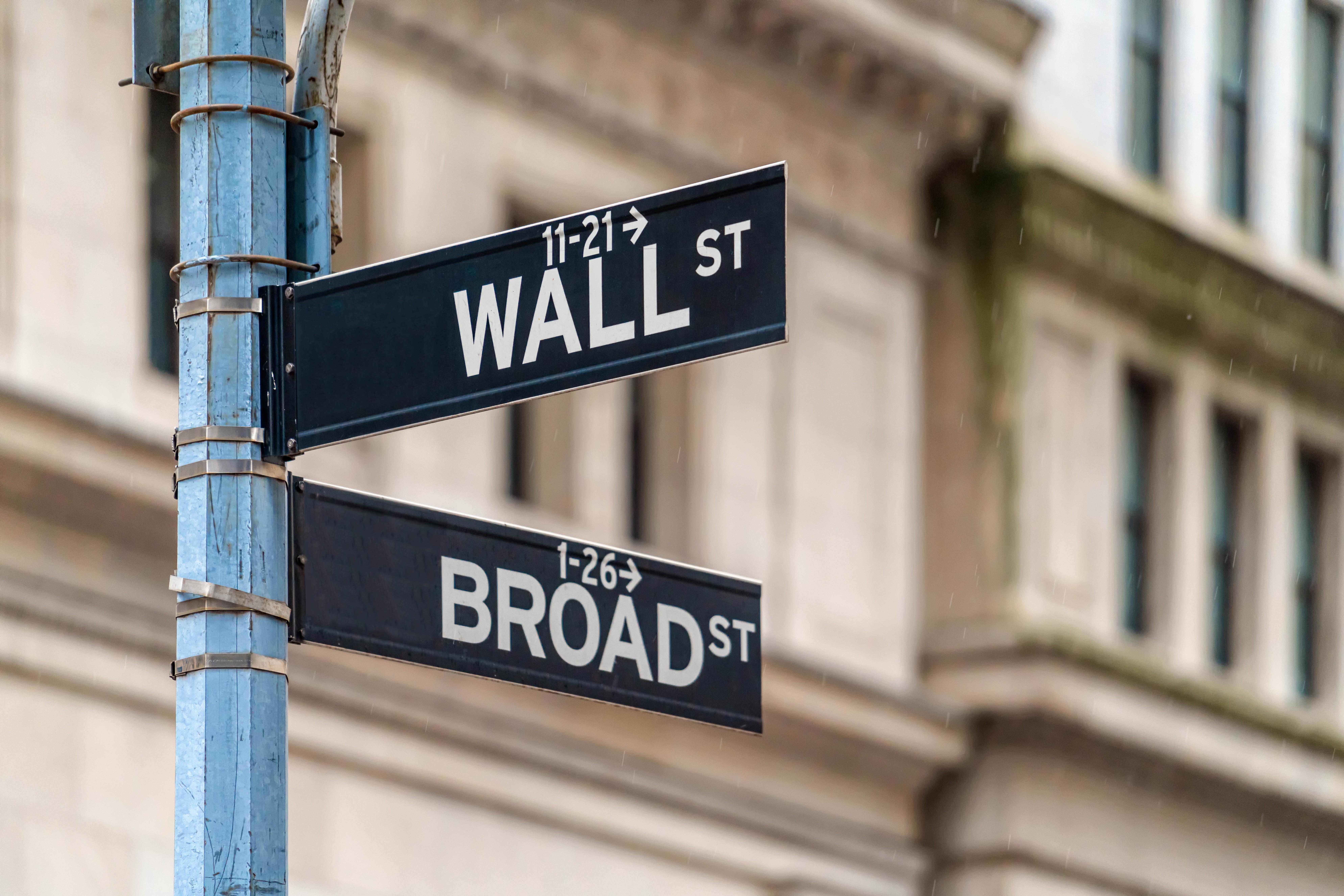 New York City street signs.