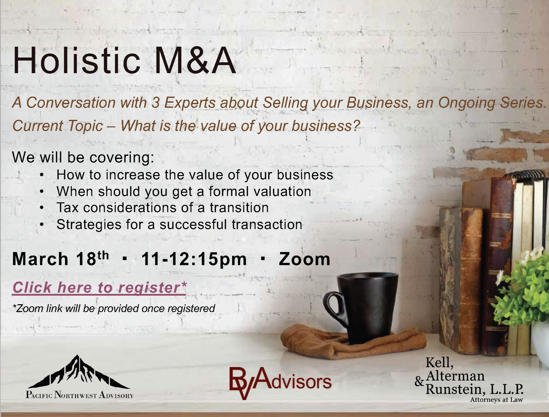Holistic M&A Business Roundtable - How to Improve the Valuation of your Business Thumbnail