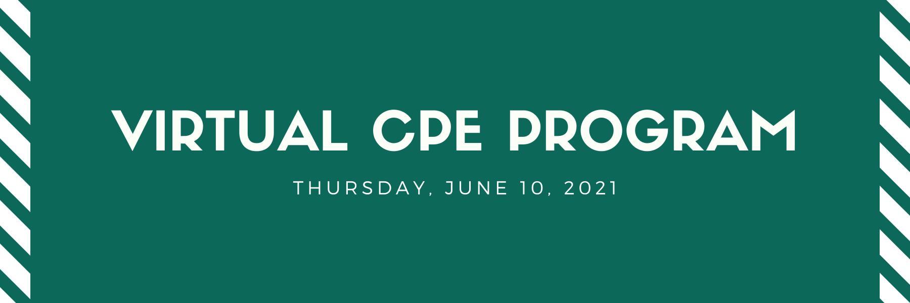Virtual CPE Program - June 10 Thumbnail