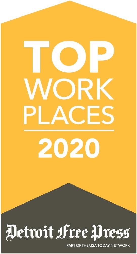 Detroit Free Press Top Work Places 2020