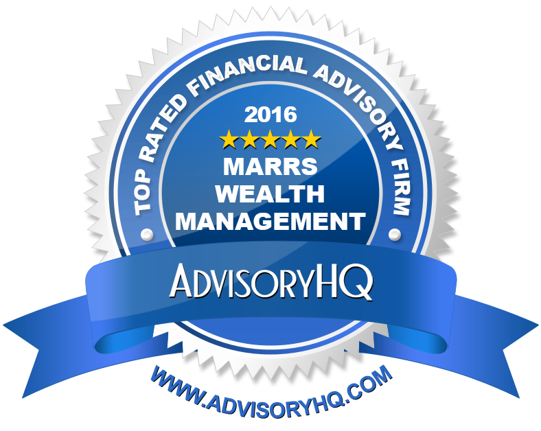 2016 Top Ranked Financial Advisor Award