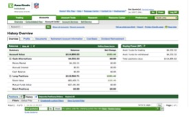 TD Ameritrade account for a Bay Point client