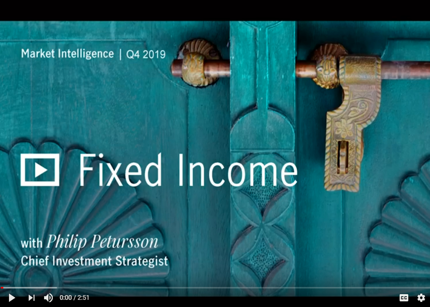 Market Intelligence Q4 2019: Fixed Income with Philip Petursson  Thumbnail