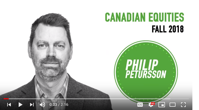 Philip Petursson on Canadian equities - Fall 2018. Thumbnail
